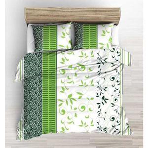 Forbyt, Súprava 1+1 posteľnej bavlneného obliečky, Lístie zelené