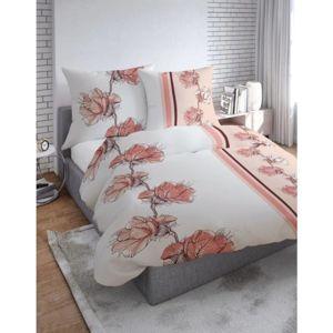 Forbyt, Obliečky bavlnené, Flanel Kvety růžové,140 x 200 + 70 x 90 cm