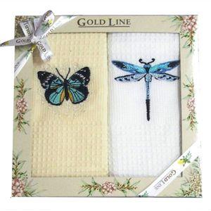 Forbyt, Darčekové balenie 2 ks bavlnených utierok, Motýľ a vážka, 50 x 70 cm