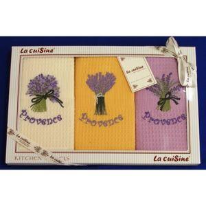 Darčekové balenie 3 ks bavlnených utierok, PROVENCE Ľalia, 50 x 70 cm
