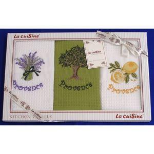 Darčekové balenie 3 ks bavlnených utierok, PROVENCE Lemon , 50 x 70 cm