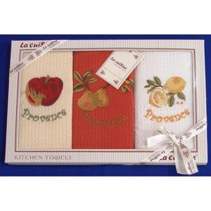 Forbyt, Darčekové balenie 3 ks bavlnených utierok, Provence ovocie, 50 x 70 cm