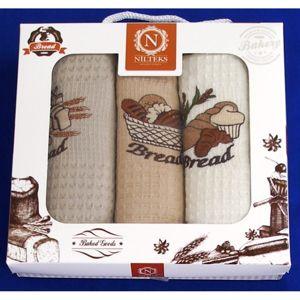 Forbyt, Darčekové balenie 3 ks bavlnených utierok, Bread, 50 x 70 cm