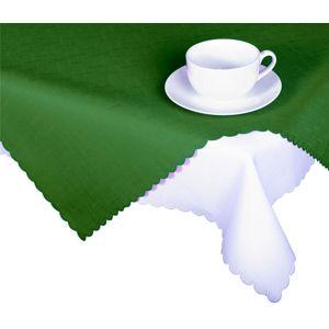 Forbyt, Obrus s nešpinivou úpravou, Jednofarebný dáždik, tmavo zelený 120 x 140cm obdĺžnik