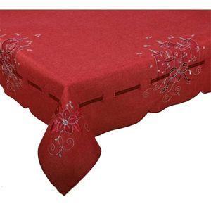 Forbyt, Obrus vianočné, šedočervené sviečky 18, šedý 85 x 85 cm