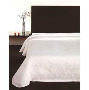Forbyt, Posteľná prikrývka, Floral biely 240 x 260 cm