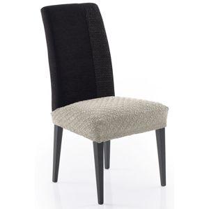 Poťah elastický na sedák stoličky, MARTIN, béžový, komplet 2 ks,