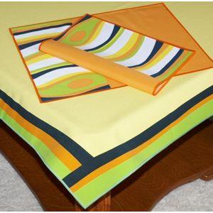 Obrus abstrakce set,120 x 140cm + 30 x 45 cm