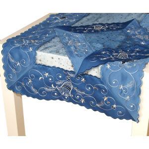Forbyt, Obrus Vianoční 06H 2191, modrý, štvorec, obdĺžnik 50 x 100 cm