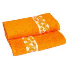 Uterák alebo osuška bavlnená, Pené, oranžový 70 x 140 cm
