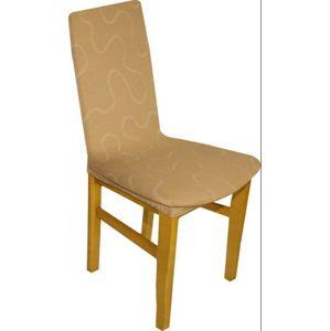 Forbyt, Poťah multielastický na stoličky, Lazos tmavo béžový komplet 2 ks